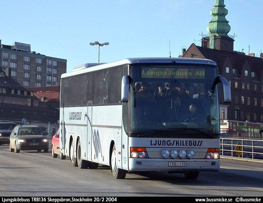 Bus takes you to Stockholm immediately after the Ridef is finished